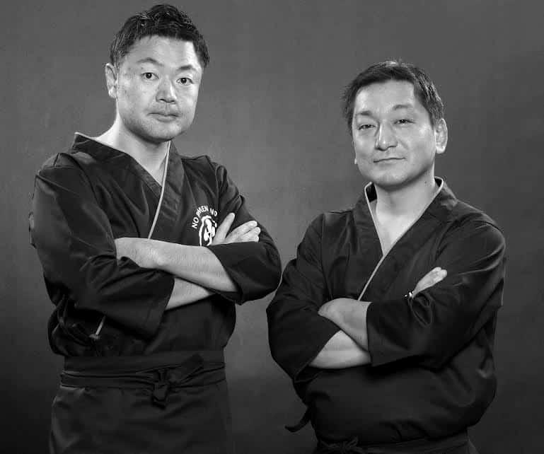 Chefs Yoshinari Ichise and Tomio Hakada