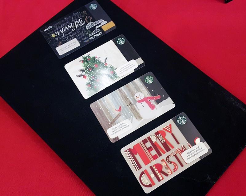 Holiday Starbucks Cards