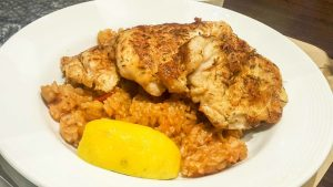 Spicy Chicken with Brown Rice Pilaf