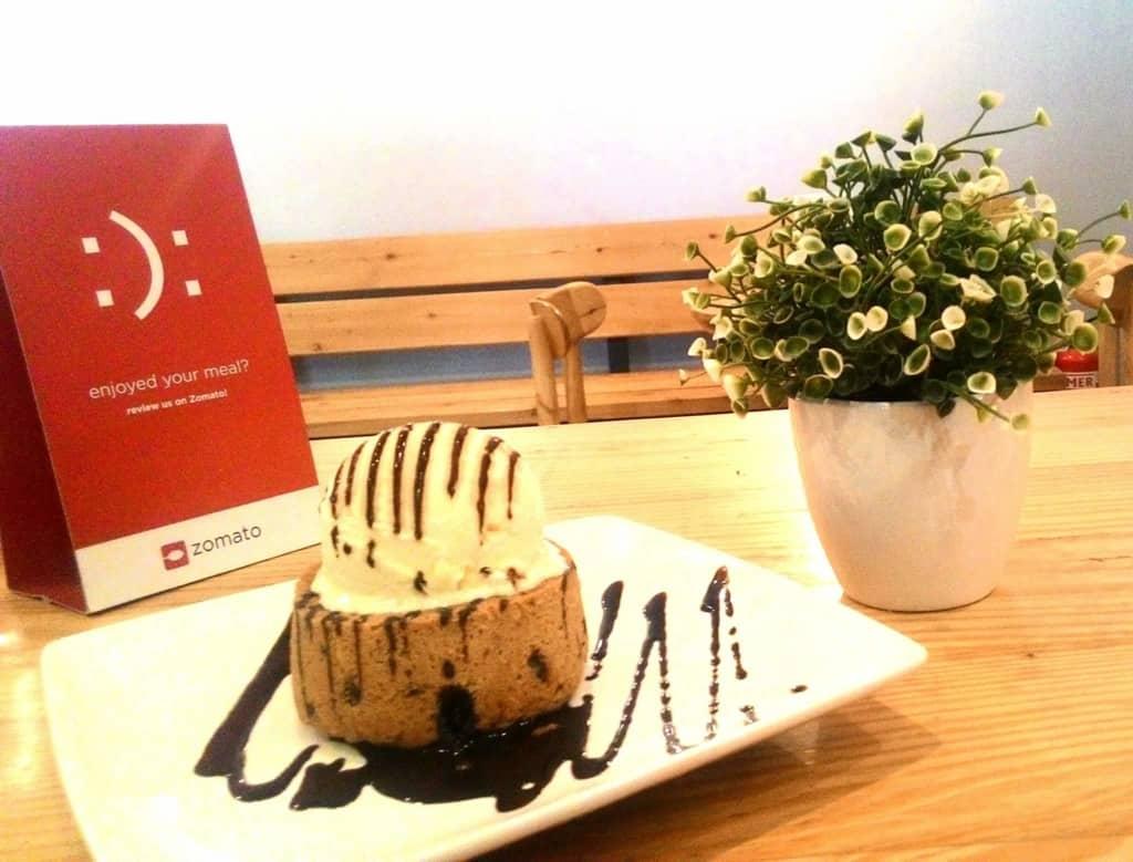 Fudge Chocolate chip Lava Cake 2