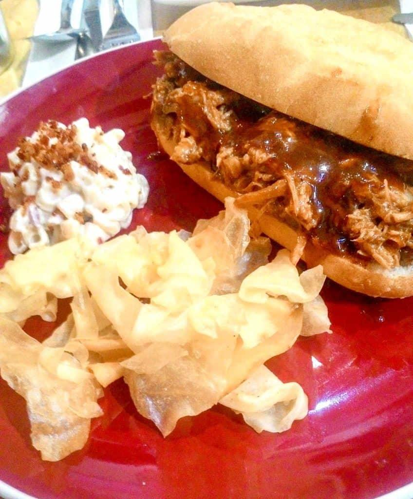 Fudge Pulled Pork Sandwich