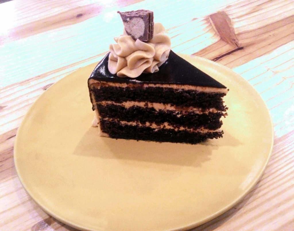 Fudge Reese's cake