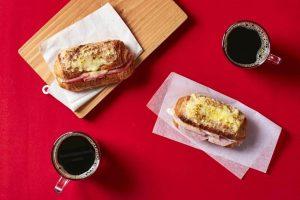 Croque Monsieur on Croissant Baguette
