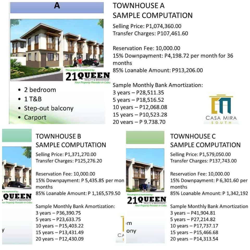casa-mira-south sample computation