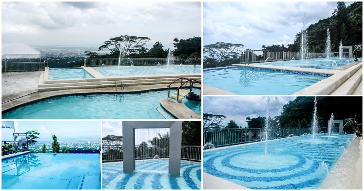The new mountain view nature 39 s park resort with infinity for Pool garden mountain resort argao