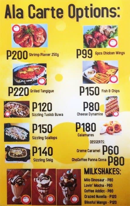 paparts unli chicken menu