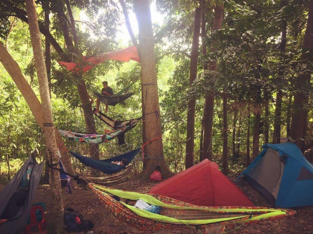 bacalla-woords-campsite-hammocks-tent