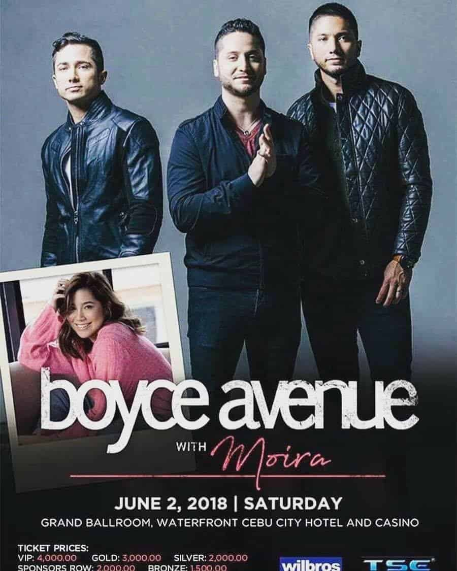 Boyce Avenue + Moira Concert In CEBU This June 2, 2018