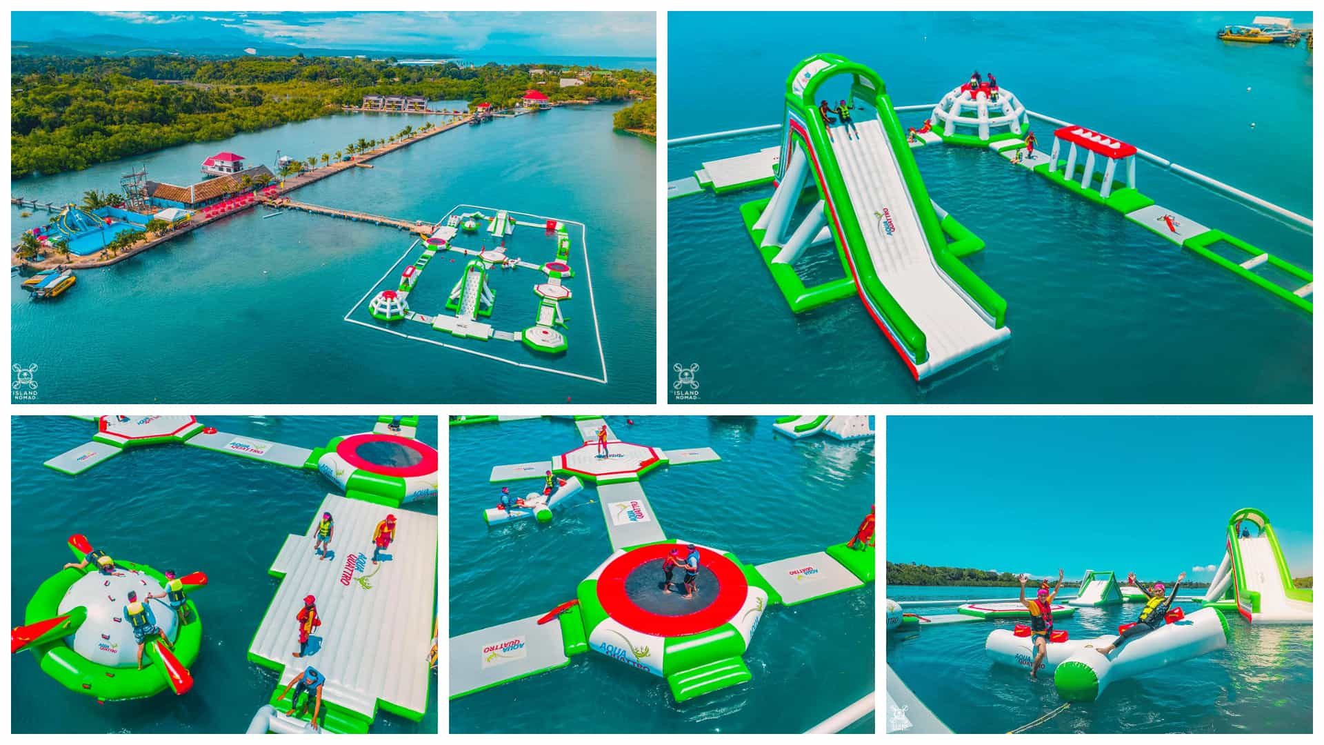 Aquaquattro Inflatable Sports Water Park At Papa Kit S