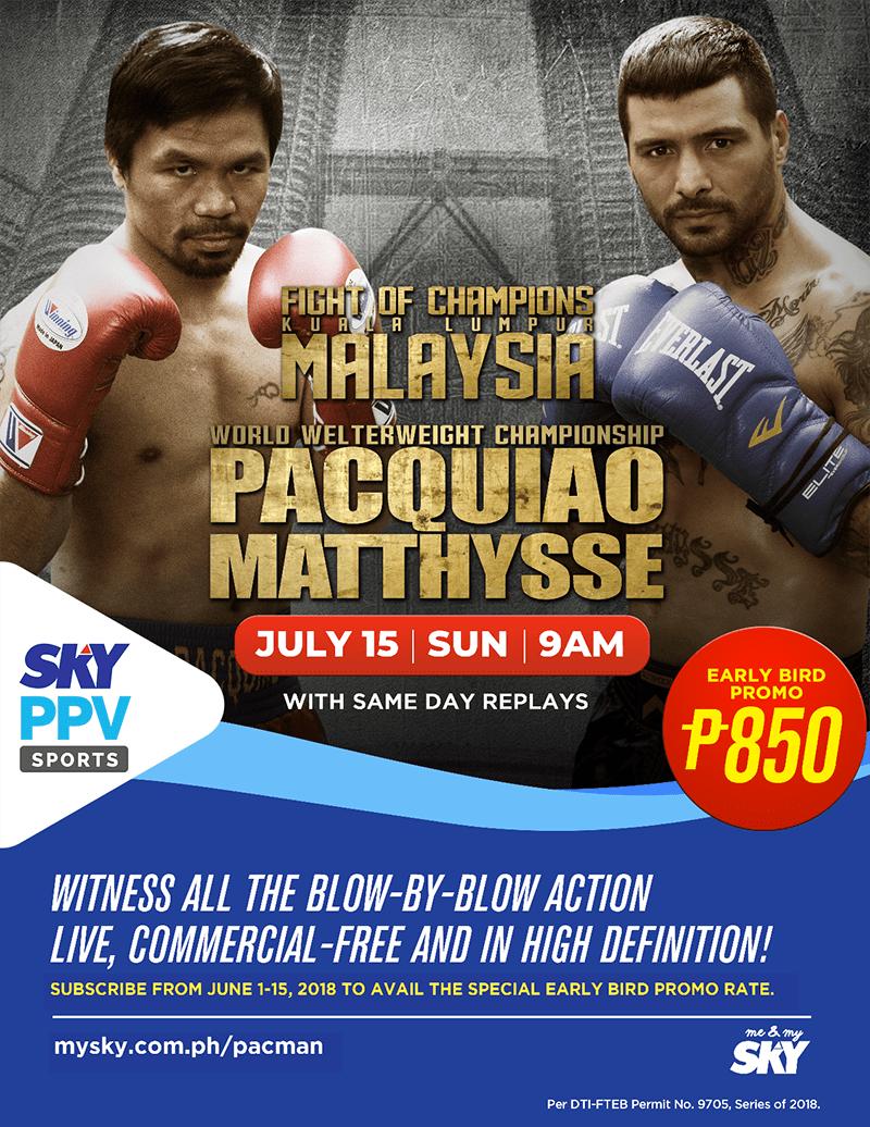 Pacquiao vs Matthysse Early Bird Cebu 2