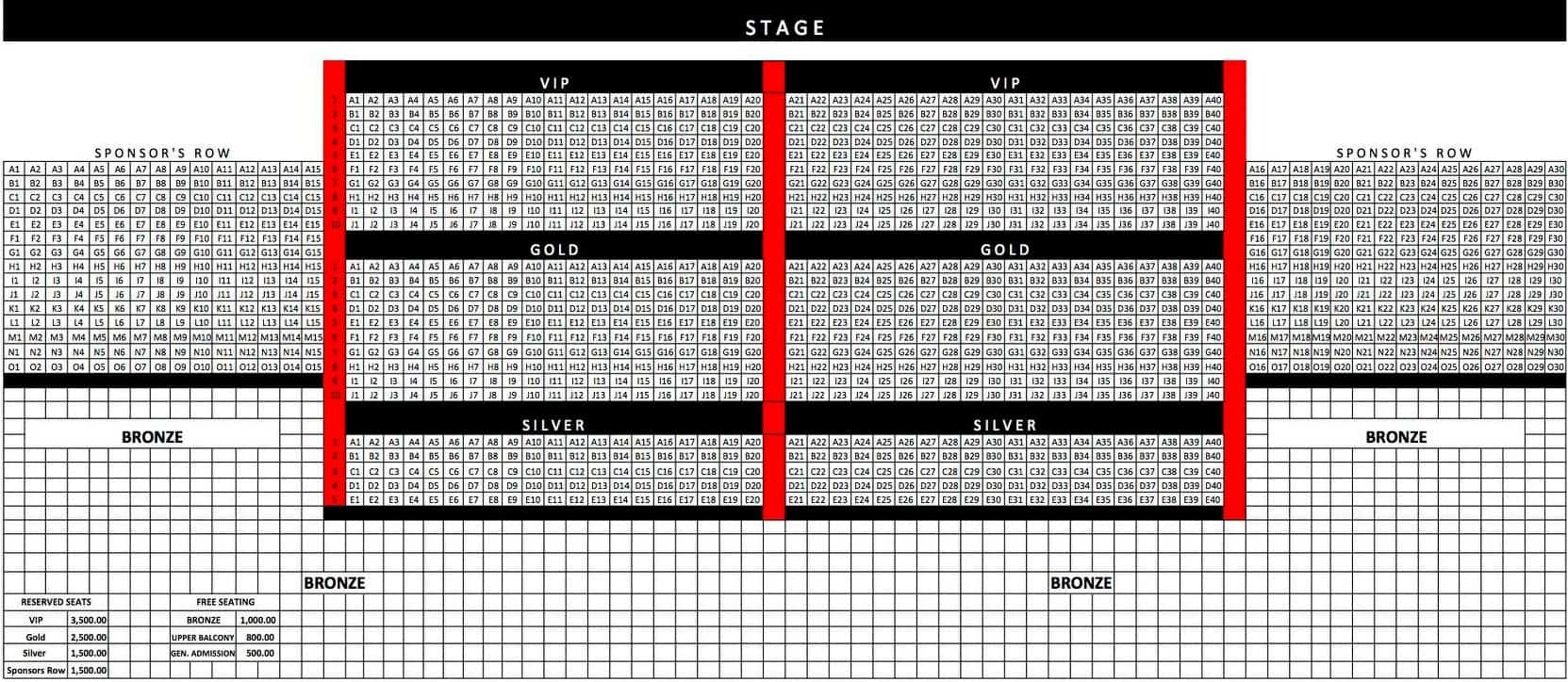 KZ Tandingan Cebu Concert Seat Plan