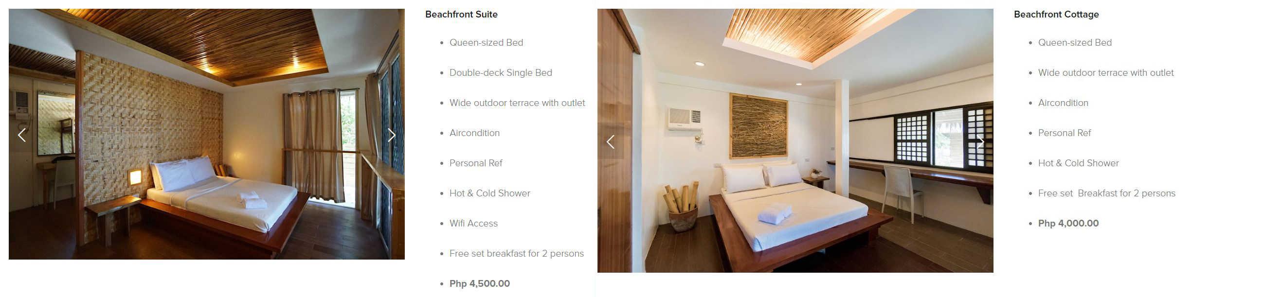 Kota Beach Resort Bantayan – Room Rates 01