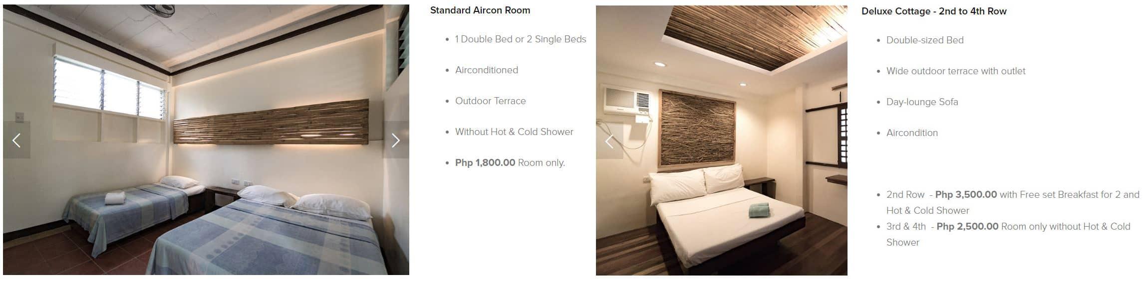 Kota Beach Resort Bantayan – Room Rates 02