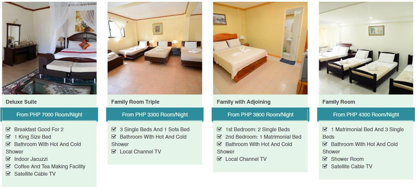 Ogtong Cave Resort Room Rates 2
