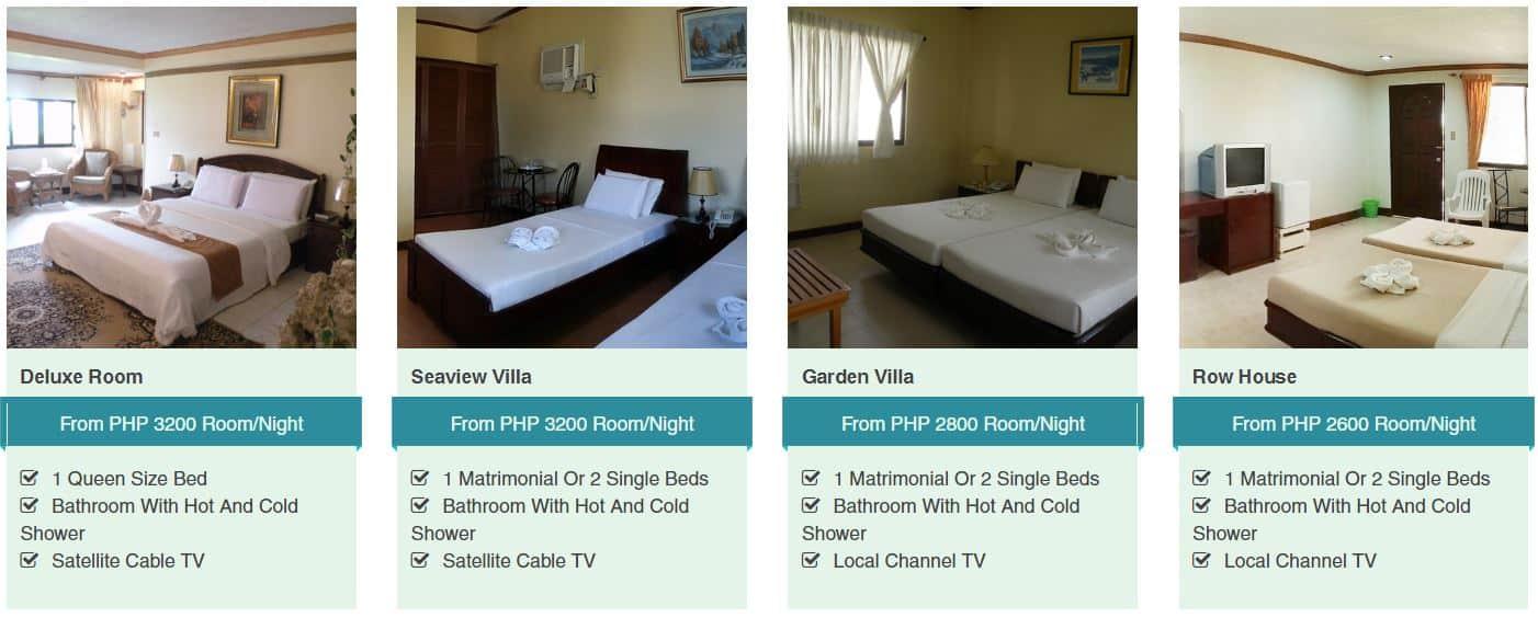 Ogtong Cave Resort Room Rates