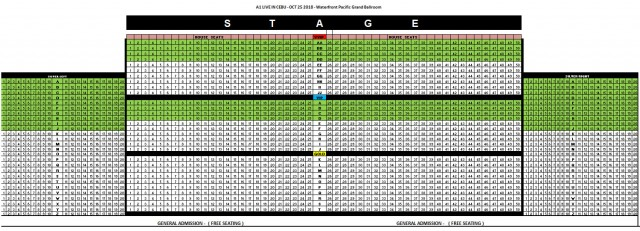 A1 Reunion Concert Tour Cebu Seat Plan