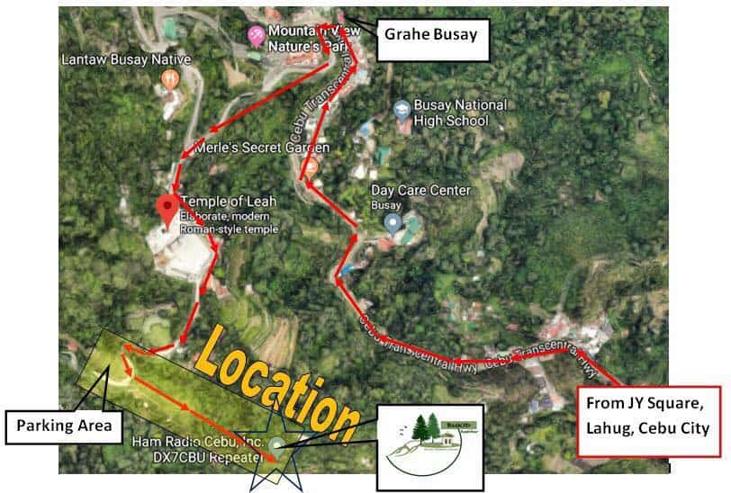 Bukid Restobar Cebu Map