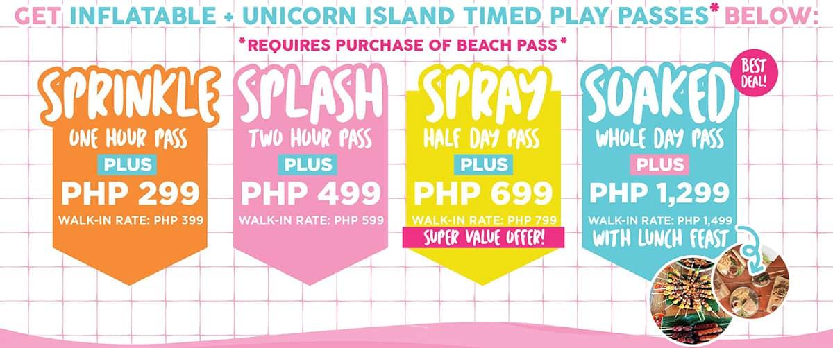 Happy Beach Unicorn Inflatable Rates