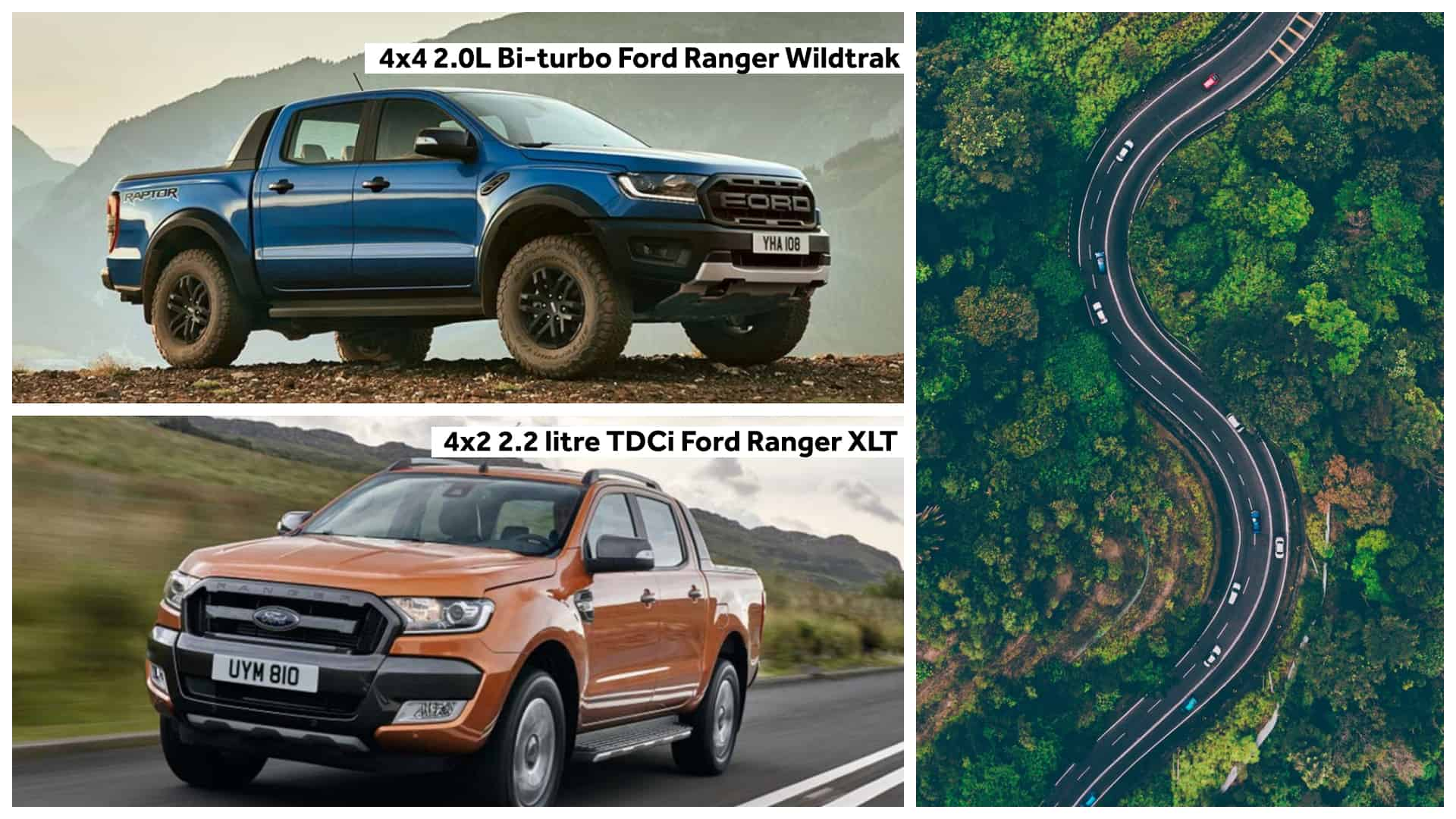 driving the ford wildtrak and xlt in uphill cebu