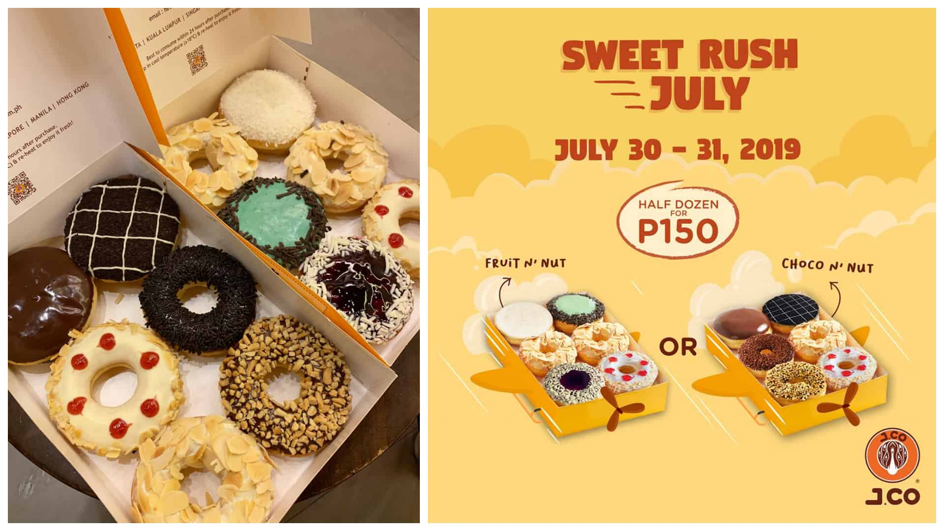Payday Treat: JCO Donuts offers 1/2 Dozen for ₱150 (from ...