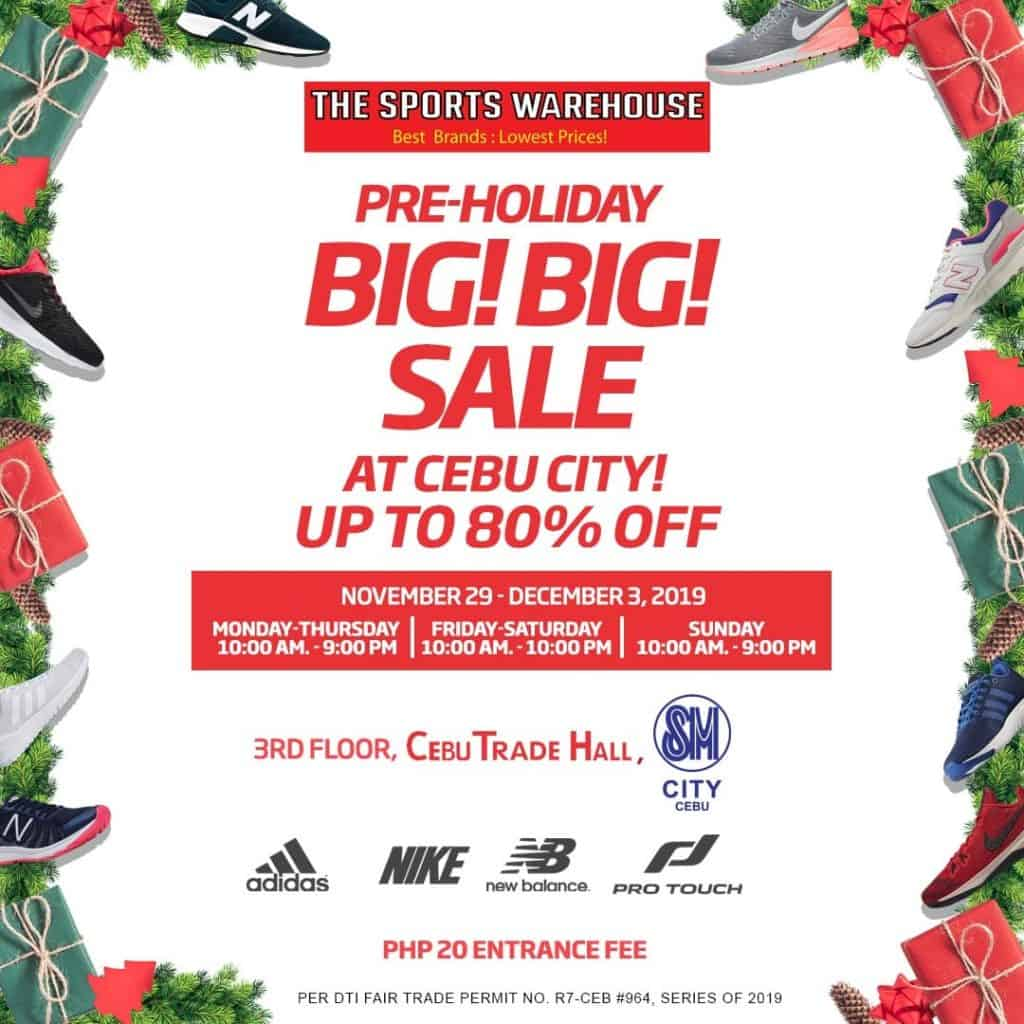 The Sports Warehouse Big Big Holidays Sale SM Cebu (1)