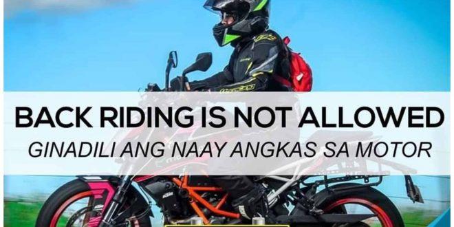 1DOTR No Back Ride Policy Cebu