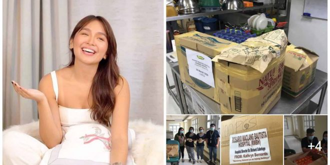kathryn bernardo donate covid19