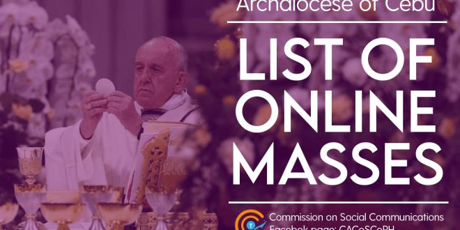 list of online masses cebu
