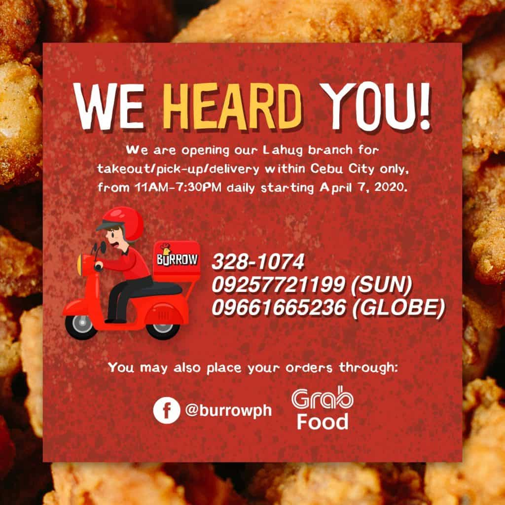 Burrow Unlimited Chicken Wings Cebu Delivery (2)