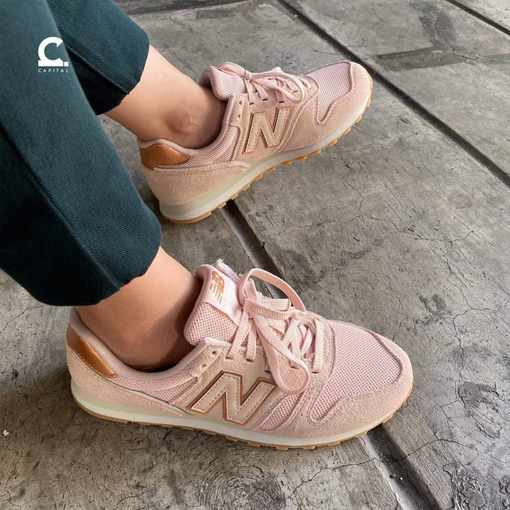 Check out this new Vintage-inspired Pink Rose Gold Sneakers