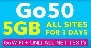 Globe Go50 new promo