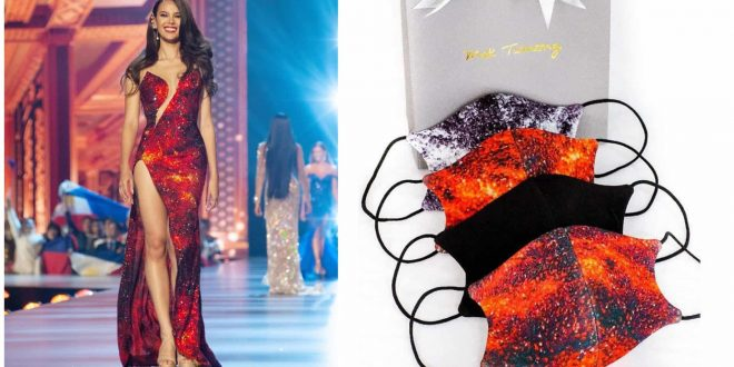 1 Catriona Gray Lava Gown face mask