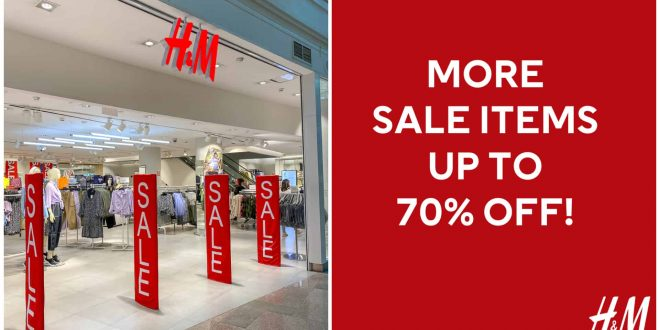 H&M Stores nationwide sale July 2020