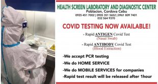 1 Cebu COVID Testing Mobile Services
