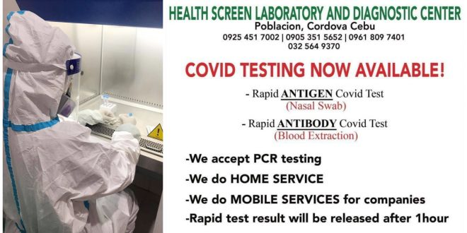 1 Cebu COVID Testing Mobile Services