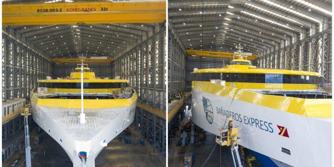 1 118-metre High Speed Trimaran Ferries Austal